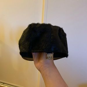 Dolce and Gabbana goat skin hat